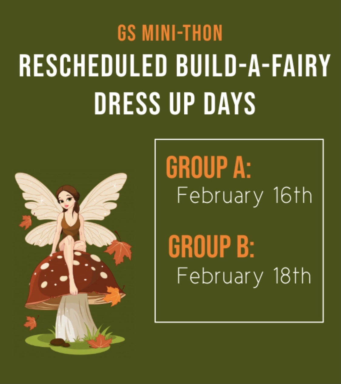 build-a-fairy rescheduled
